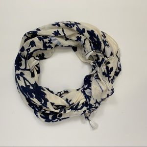 Michael Stars blue floral scarf